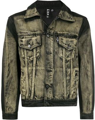 Liam Hodges bleached effect denim jacket