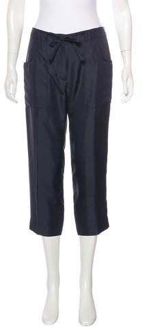 Prada Silk Cropped Pants