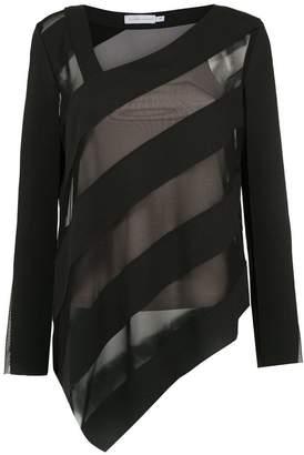 M·A·C Mara Mac sheer panels blouse