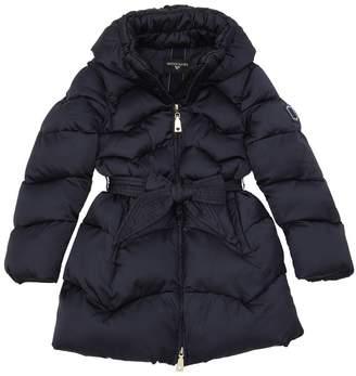 MonnaLisa Quilted Nylon Satin Puffer Coat