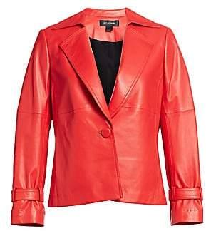 St. John Women's One-Button Leather Blazer