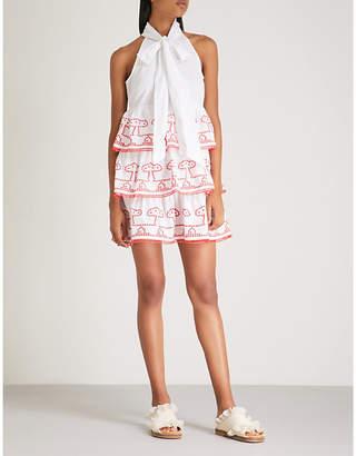 Ganni Peony cotton mini dress