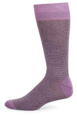 Saks Fifth Avenue COLLECTION Cigarette Striped Socks