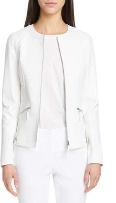 Lafayette 148 New York Cairo Leather Jacket