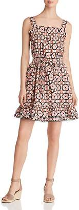 Kate Spade Floral Mosaic Print Poplin Dress