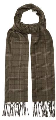 Dunhill Checked silk and cashmere-blend scarf
