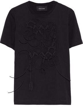Simone Rocha Appliquéd Cotton-Jersey T-Shirt