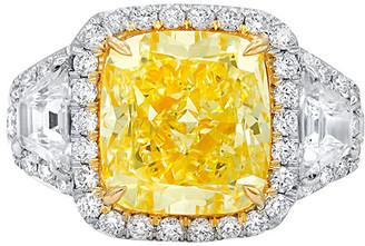 Diana M. Fine Jewelry Platinum & 18K 7.04 Ct. Tw. Diamond Ring