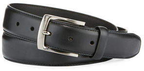 Neiman Marcus Men's Feather-Edge Stitch Leather Belt