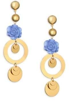 Ettika Flower Drop Earrings