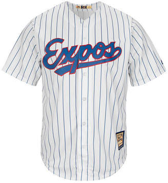 Majestic Men's Montreal Expos Cooperstown Blank Replica Cool Base Jersey