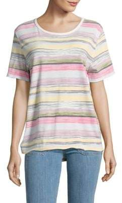 Free People Knit Camouflage Tee