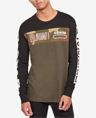 G Star Men's Long-Sleeve Colorblocked T-Shirt