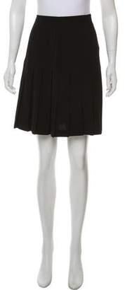 Nicole Miller Wool Pleated Skirt