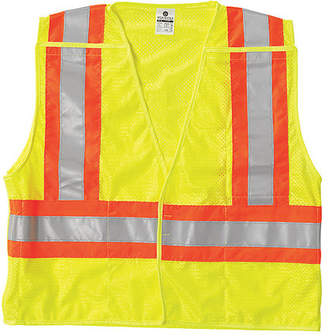 ML KISHIGO Breakaway Hi Vis Vest,Class 2,4XL,Lime 1174-4X