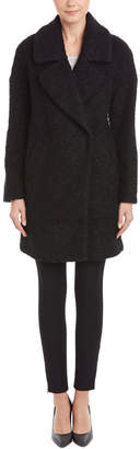Betsey Johnson Sweetly Simple Wool-Blend Car Coat