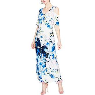 Rachel Roy Women's Printed Cold Shoulder Jersey Maxi Dress