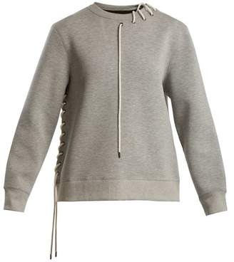 Craig Green Crew Neck Lace Up Jersey Sweatshirt - Womens - Grey