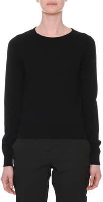 Tomas Maier Crewneck Long-Sleeve Cashmere Sweater