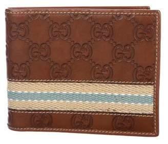 Gucci Guccissima Web Bifold Wallet