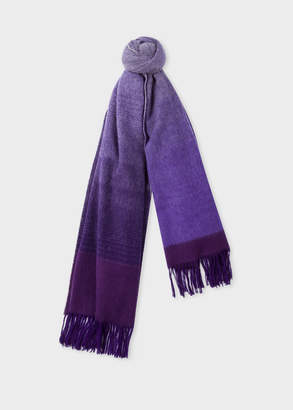 Paul Smith Women's Violet Ombre Lambswool And Cashmere Scarf
