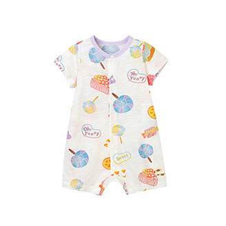 Mirry Baby Short-Sleeve Bodysuit 100% Cotton Cute Comfortable
