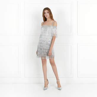 Rachel Zoe Elie Metallic Fringe Mini Dress