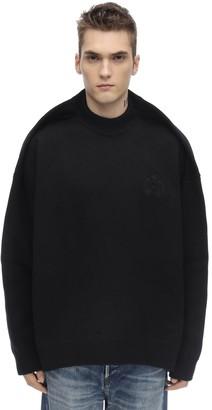 Balenciaga Pinched Cashmere Blend College Sweater