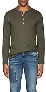 Eleventy Men's Cotton Long-Sleeve Henley - Olive