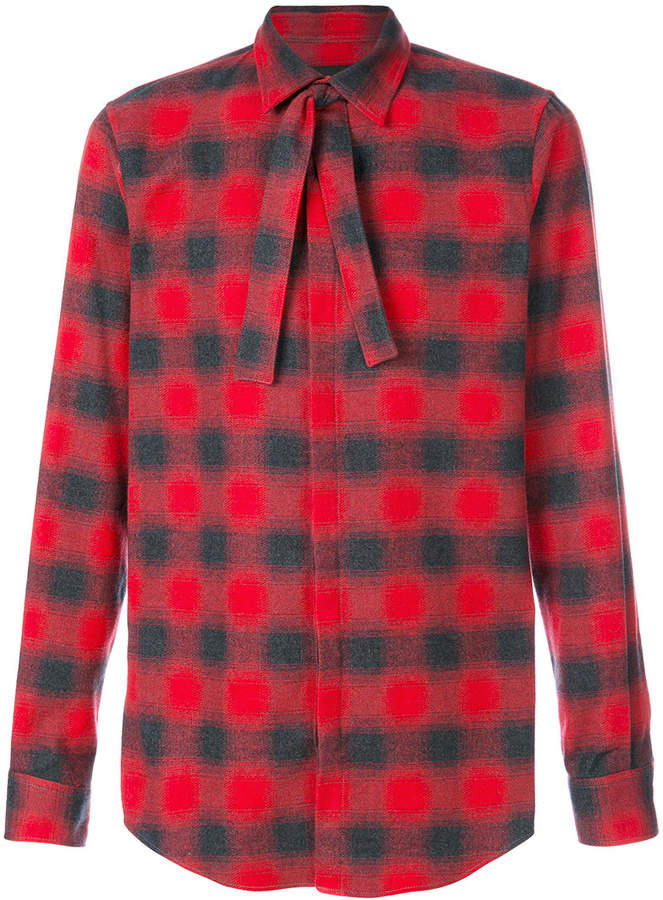 DSQUARED2 neck tie checked shirt