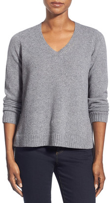 Eileen Fisher Boxy Wool V-Neck Pullover $278 thestylecure.com