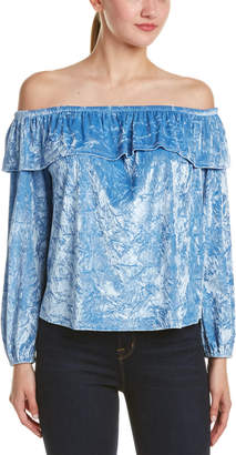 Mono B Velvet Off-The-Shoulder Blouse