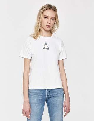 Collina Strada Chakra Embroidered Tee in White
