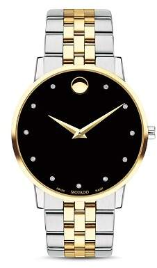 Movado Museum Classic Two-Tone Diamond-Index Watch, 40mm