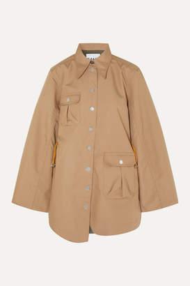 Ganni Brushed-twill Jacket - Beige