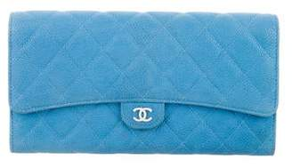 Chanel Caviar Travel Wallet