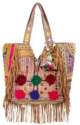 Calypso Embroidered Fringe Bag
