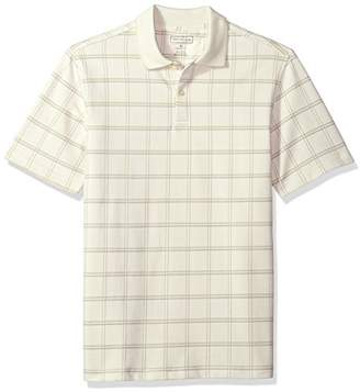 Van Heusen Men's Printed Windowpane Short Sleeve Polo