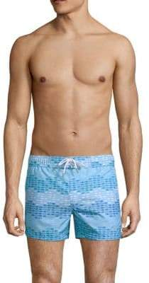 2xist Wavy Fish Swim Shorts