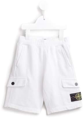 Stone Island Junior cargo sweat shorts