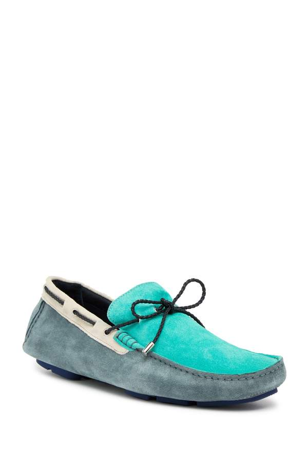 Bugatchi Colorblock Suede Boat Shoe
