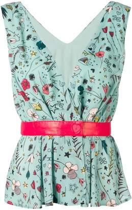 Elisabetta Franchi floral print blouse
