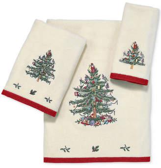 Avanti Spode Christmas Tree Bath Towel Bedding