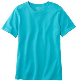 L.L. Bean L.L.Bean Women's Pima Cotton Tee, Short-Sleeve Crewneck