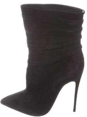 Christian Louboutin Suede High-Heel Boots