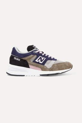 New Balance 1530 Mesh And Suede Sneakers - Midnight blue