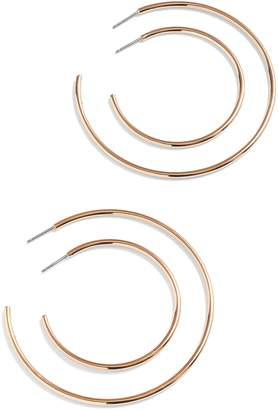 J.Crew 4-Piece Hoop Earring Set