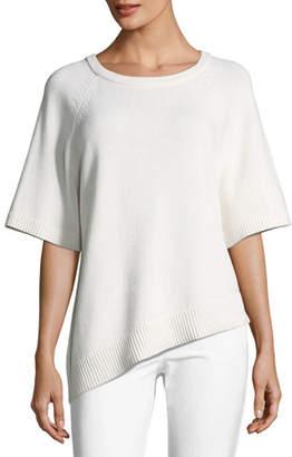 Michael Kors Crewneck Asymmetric Cashmere Pullover