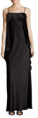 ABS by Allen Schwartz Draped Satin Gown