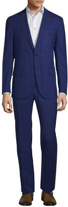 Isaia Men's Plaid Wool Suit